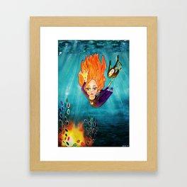 Diving Deep Framed Art Print