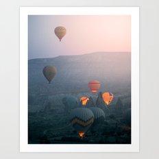 Balloons over Cappadocia Art Print