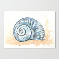 shell Canvas Prints featuring Shell by Pendientera