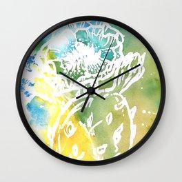 Succlent Wash Wall Clock