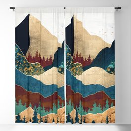 Malachite Mountains Blackout Curtain
