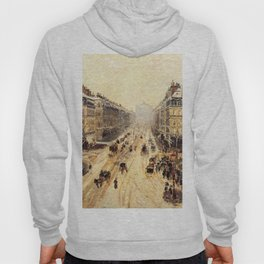 Avenue De L Opera Effect Of Snow 1898 By Camille Pissarro | Reproduction | Impressionism Painter Hoody