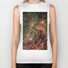 Colorful fireworks Biker Tank