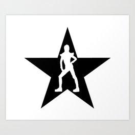 Bowie Ziggy Blackstar Art Print