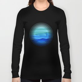 Alcohol Ink Seascape Long Sleeve T-shirt