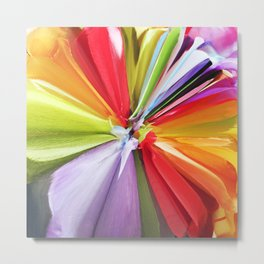 377 = Abstract Flower Design Metal Print