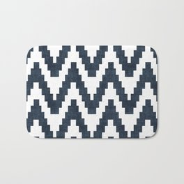Twine in Navy Blue Bath Mat