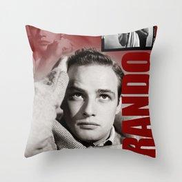 Marlon Brando Collage 3 Throw Pillow