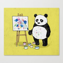 Panda Painter Canvas Print