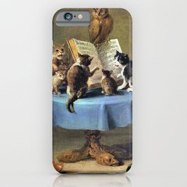 Cat Concert - David Teniers the Younger iPhone Case