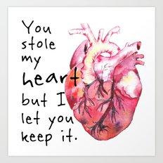 Stolen Heart Art Print