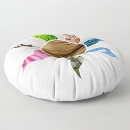 Tangled Flower Floor Pillow