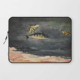 Vintage Winslow Homer Fish & Butterfly Painting (1900) Laptop Sleeve