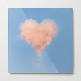 Heart Cloud Circle Metal Print