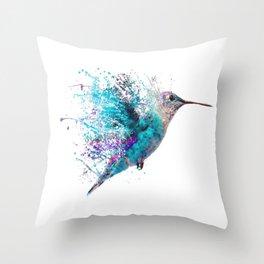 HUMMING BIRD SPLASH Throw Pillow