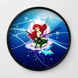 Ariel Mermaid Wall Clock