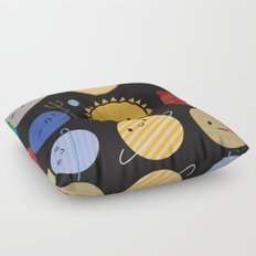 Say Hello to the Solar System Floor Pillow