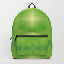 Kaleidoscopic design in soft green colors Backpack