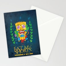 EAT MY SHORTS Stationery Cards