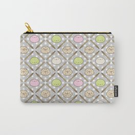 Mochi Kochi | Pattern in Grey Carry-All Pouch