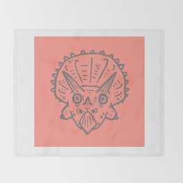 Asteroid Anxiety - Triceratops Throw Blanket