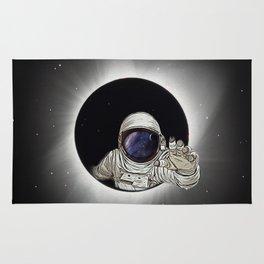 Black Hole Astronaut Rug