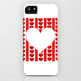 PURE HEART OF WHITE-RED HEARTS VALENTINES  ART iPhone Case
