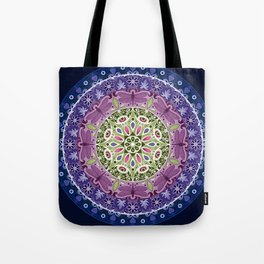 Colourful Dragonfly Mandala Tote Bag