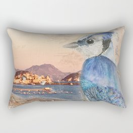 Bird Watching Over Tyrrhenian Sea Rectangular Pillow
