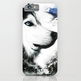 The Husky's Mountain Gaze by Vince Bongiovanni iPhone Case