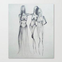 Hair skirt Canvas Print
