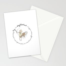 Star Sign Sagittarius Girl Stationery Cards