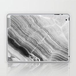 Shades of grey marble Laptop & iPad Skin