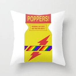 Rainbow poppers LGBT GAY PRIDE MONTH Throw Pillow