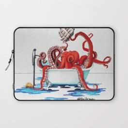 Bath Time Red Laptop Sleeve