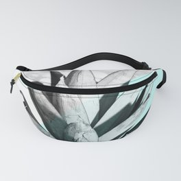 Pineapple Top Marble Pastel Blue Fanny Pack