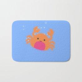 Orange Cartoon Crab Bath Mat