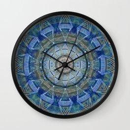 Illuminated Cosmic Eye Healing Mandala Painting Wall Clock