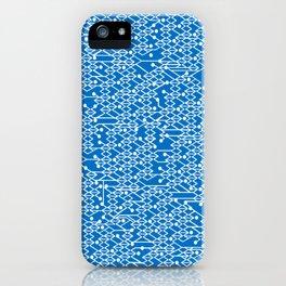 Microchip Pattern (Blue) iPhone Case