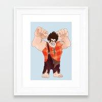 wreck it ralph Framed Art Prints featuring Wreck it Ralph! by Kieron Reilly