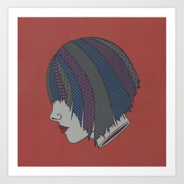 Heads Will Roll (Red) Art Print