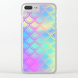 Blue Yellow Mermaid Tail Abstraction Clear iPhone Case