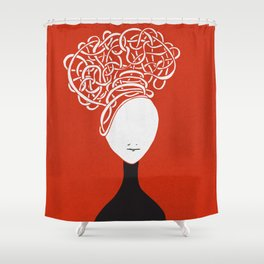 Iconia Girls - Hanna Red Shower Curtain
