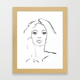 Big Hair Framed Art Print