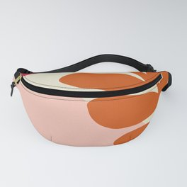 Big tropical leaves and flowers crackled design for fine houses decoration. Fanny Pack