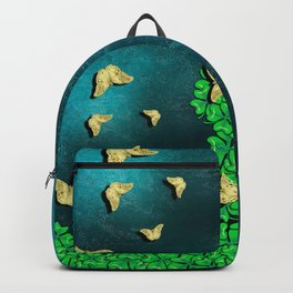 clover and butterflies Backpack