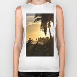 Photo 33 beach palm trees Biker Tank