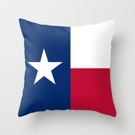 Texas State Flag Throw Pillow