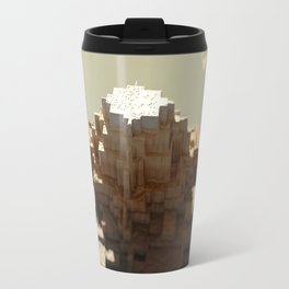 Temple mayan structure macro material structure building city landscape background Travel Mug