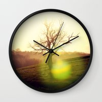 stark Wall Clocks featuring Stark Sunrise by Mark Bagshaw Photography